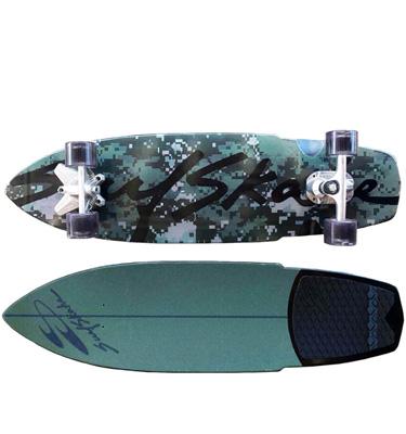 Hybrid camo surfskate